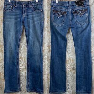 Miss Me JE5316BL Chain Reaction Bootcut Jeans 28